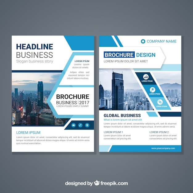Brochure Template Vectors  Photos and PSD files   Free Download Abstract design brochure template
