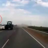 【クラッシュ】猛スピードで人に突っ込んだら凄いことになったw