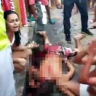 【閲覧注意】道端で死んでる息子を見て泣き崩れる母親