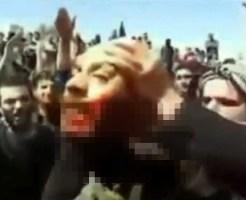 【グロ:斬首】シリアの首切り映像がグロすぎる件