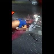 【グロ動画】フルフェイスから中身がブチ撒けてるバイカー