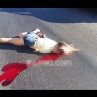 【閲覧注意】金髪少女が轢かれ頭からドロドロの血が・・・