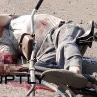【グロ注意】ウクライナの砲撃跡・・・巻き込まれた男性が・・・