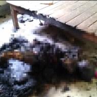 【グロ注意】自宅で焼身自殺した女性・・・消し炭の様な死体・・・