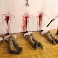 【殺人】キチガイがショットガン持って撃ち殺していく一部始終