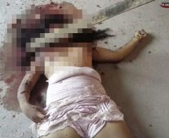 【グロ画像】17歳の少女が角材で顔を殴られ死亡