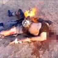 【グロ動画】ISIS首を斬ってからの~~~焼却処分・・・ 閲覧注意