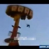 【鳥肌映像】遊園地でアトラクションから落下までの一部始終・・・