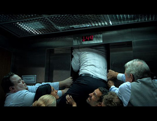 【衝撃映像】エレベーターに閉じ込められた時の人間の反応はこんな感じ