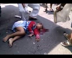 【グロ注意】9歳女児がトラックに轢かれた・・・どうみても即死ってわかる死体