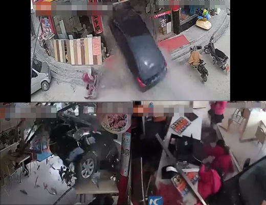 【事故映像】同じ事故映像を4アングルで記録されてるのって珍しいんじゃないか? ※高画質