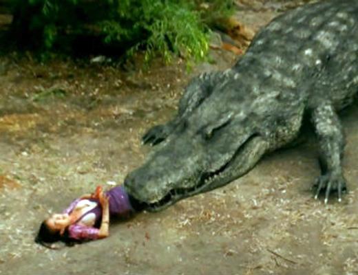 【閲覧注意】子供がワニに襲われてる所を救出!→間に合わなかった・・・