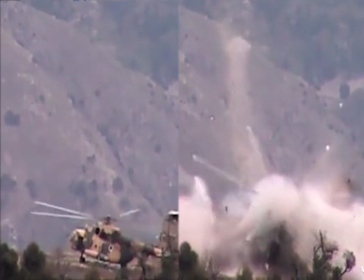【衝撃映像】ヘリ着陸点に爆弾仕掛けてたらまんまと引っかかったw