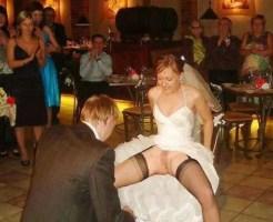 【エロ画像】結婚式当日にやらかした花嫁たち・・・