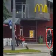 【ドイツ テロ】9人が死亡したミュンヘンのマクドで銃乱射しまくるテロの瞬間・・・