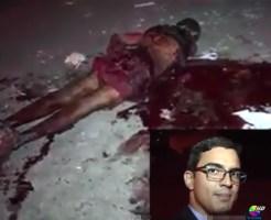 【グロ動画】死体を片付けていない血まみれの殺人現場をゴールデンタイムに流すのがデフォルトな海外メディアがコレ