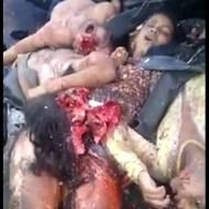 【グロ動画】女の子乗せまくって定員オーバーの車が事故した現場・・・全員肉塊になりました ※閲覧注意