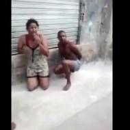 【殺人映像】ブラジルでギャングを裏切ったカップルを二人仲良く公開処刑・・・
