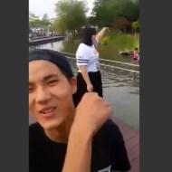 【いじめ復讐】デブを舐めるな!川に落そうとしたいじめっ子を一本背負いするデブ女子w