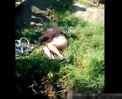 【レイプ死体】犯され全裸のまま川に捨てられた美女・・・