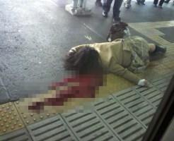 【閲覧注意】人が電車に轢かれて死んでいく映像が鮮明すぎて見れない