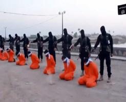 【ISIS】またイスラムか・・・最新の横並び射殺映像 ※閲覧注意