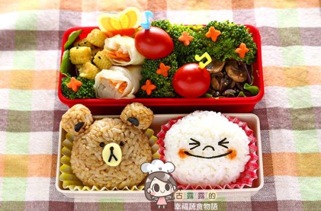 【造型便當日記】LINE 賴便當 ♥ 熊大饅頭人2014新年快樂