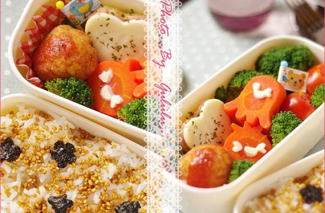 【造型便當日記】蔬食便當裝可愛|心花朵朵 做法不麻煩
