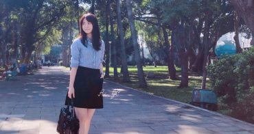 [日常穿搭] Issey Miyake Bao Bao包包+Comme des Garçons PLAY 襯衫+Uniqlo裙+Valentino Open Sneaker小白鞋