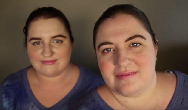 """<span class='image-component__caption' itemprop=""""caption"""">Ambra, left, and Jennifer, right, two American women who look identical but aren't related, recently met through the Twin Strangers project.</span>"""