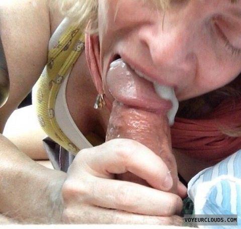 cum in her mouth selfie