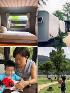 宜蘭親子旅遊❤️ 絕美梅花湖畔❤️ 天ㄟ露營車特色民宿(≧∇≦)/