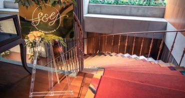 婚禮佈置 | 客製化金色鏡面迎賓牌@山茶花小姐的婚禮手記Le Camélia