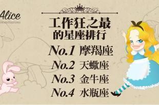 「那些星座是工作狂?」第一名的字典裡沒有退休! – 星座女王Alice