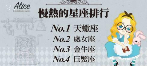 「那些星座最慢熱?」排名第二的根本只是悶騷 - 星座女王Alice