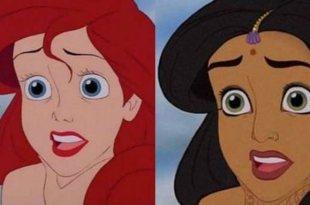 「一白遮三醜?」這個插畫家幫5位公主換了膚色,效果意外地好! – 動漫的故事