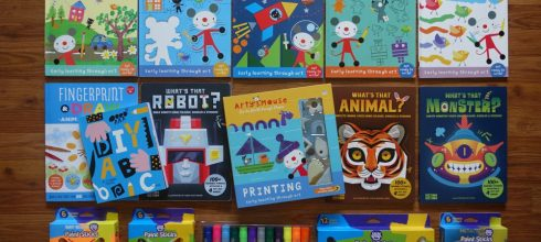 同大爺的美術用品大集合 美勞遊戲書們及水彩棒全分享