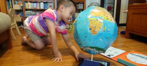 [親子書單]47公分的超大地球儀遊戲書盒 Discovery Globe: Build-Your-Own Globe Kit