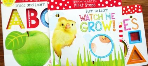 小小孩的第1本蒙特梭利硬頁書 Scholastic First Steps 劃指abc、體驗科學