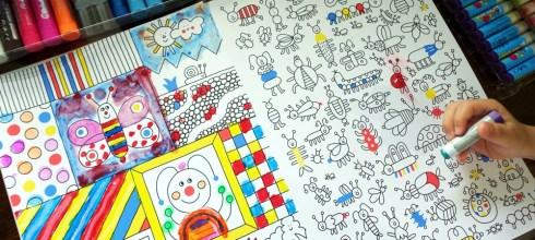 超棒的大尺寸硬頁畫冊:1001 Things to Colour|還有多本精彩畫冊大集合
