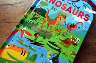 喜感又阿Q的侏羅紀,西班牙漫畫家童書 Search and Find Dinosaurs 大翻頁找找書