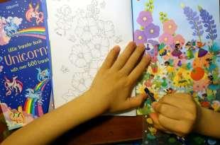 培養耐心與專注力|Little Transfer Book轉印貼紙著色書|還可以讓孩子好忙好忙