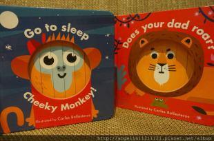 有趣的動物變臉百葉窗操作書●Little Faces: Go to Sleep, Cheeky Monkey ●