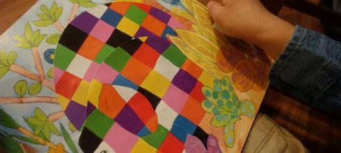 機關好多●The Elmer Pop-Up Book●大象艾瑪-超級彩色的立體操作書