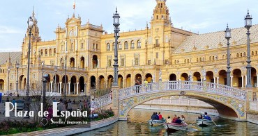 [西班牙遊記] 西班牙廣場-塞維亞新月形廣場 為1929年西屬美洲博覽會而生 划船渡護城河《星際大戰II》《阿拉伯的勞倫斯》電影取景處 西班牙摩爾復興風格建築 Plaza de España