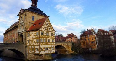[德國遊誌]Bamberg:小威尼斯與雷格尼茨河等.Klein-Venedig(Little Venice), Altes Rathaus, Regnitz, etc.