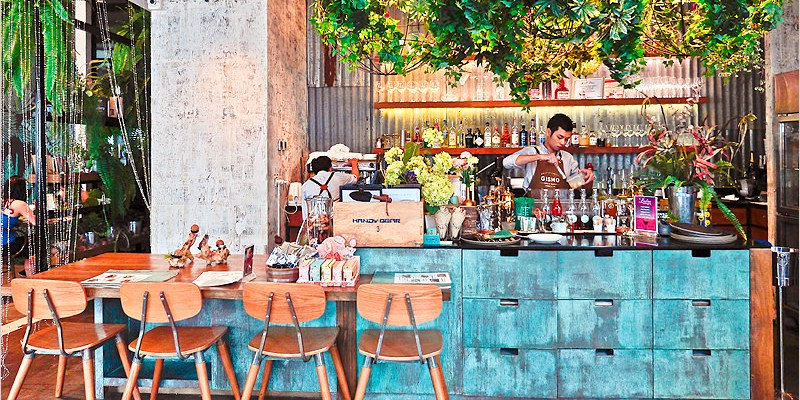 泰國曼谷咖啡廳 | GISMO Coffe & Roasters (BTS Phrom Phong站)-裝潢充滿綠意,文青派會喜歡的咖啡廳,早午餐好好吃,烤雞超澎派大推必點啦!