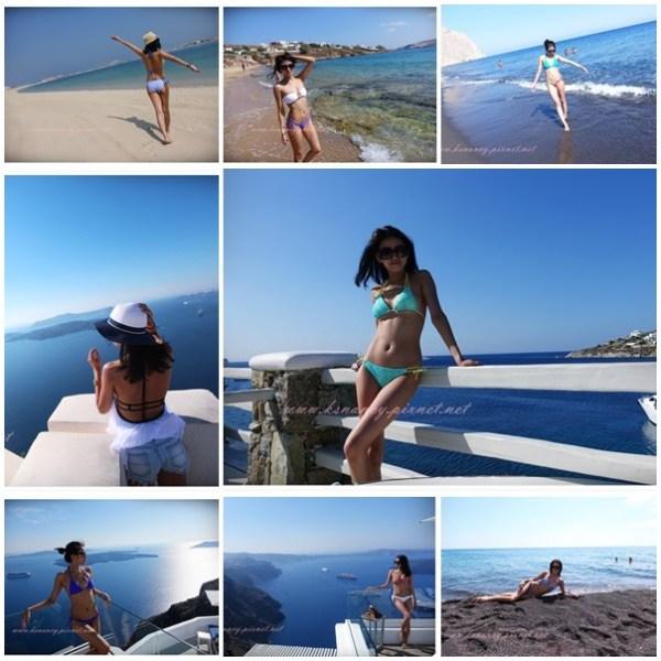 <穿搭>希臘蜜月旅行Bikini 8套分享。