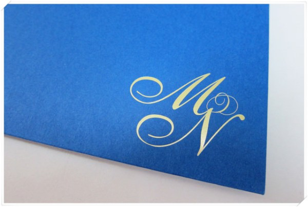 <婚禮>我愛我的寶藍色喜帖~