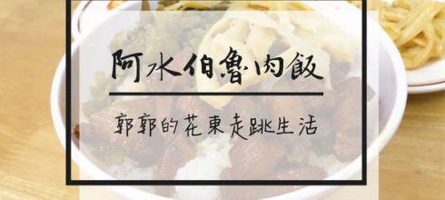 【台東市區】阿水伯魯肉飯┃美食一級戰區正氣路的老字號小店┃